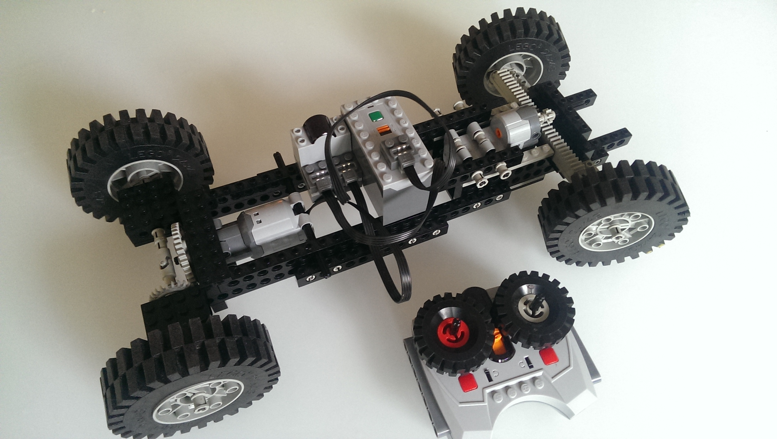 IR remote controlled lego car