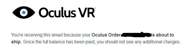 oculus rift shipping!