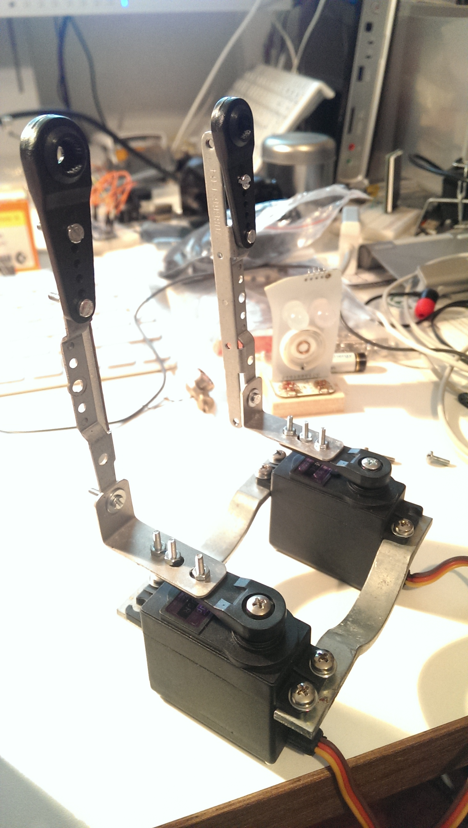 hip, servos and legs