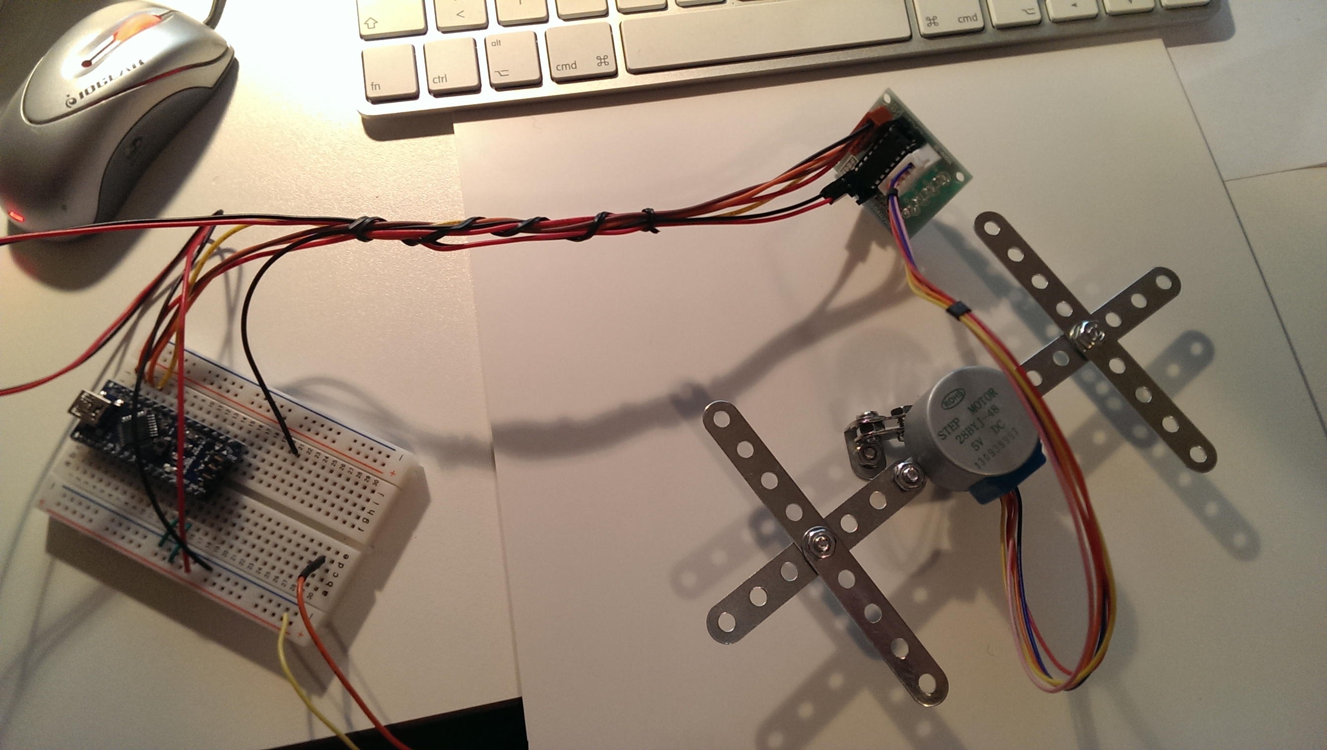 arduino stepper rotation