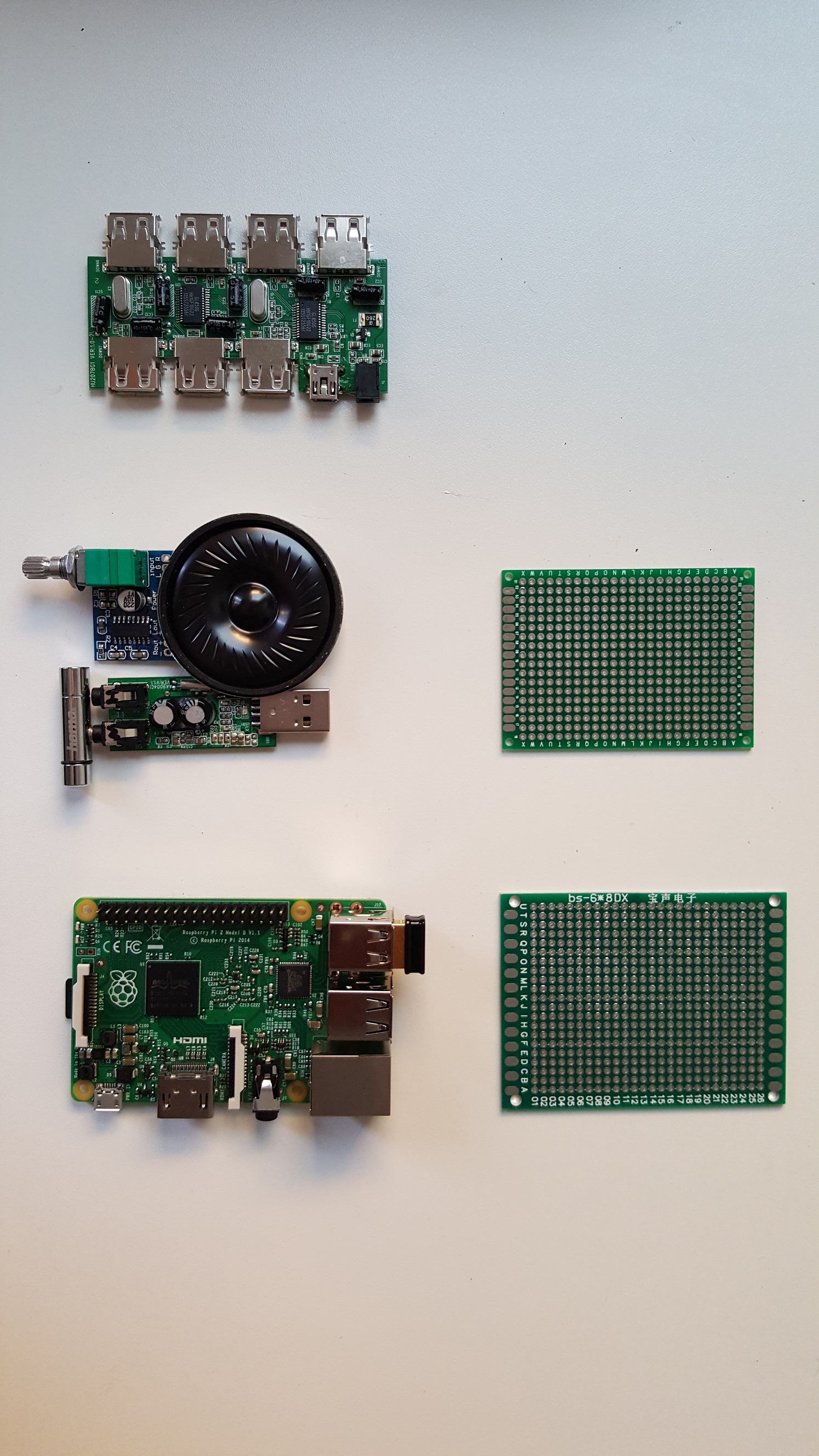 audio board components