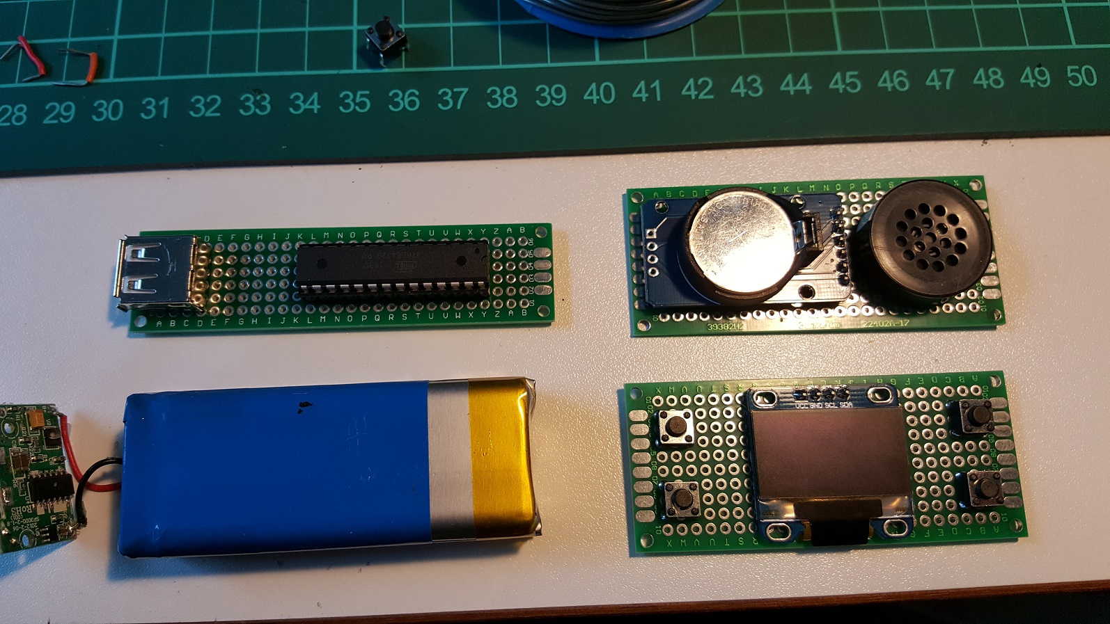 soldered boards without wiring